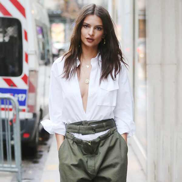 ESC: Emily Ratajkowski, White Button Down